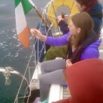 The Jones family out fishing for pollack on Galway Bay abord Súil Eile