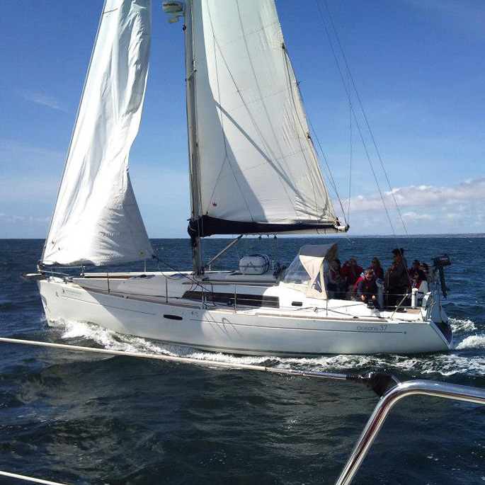 A Charter Ireland yacht underway on Galway Bay