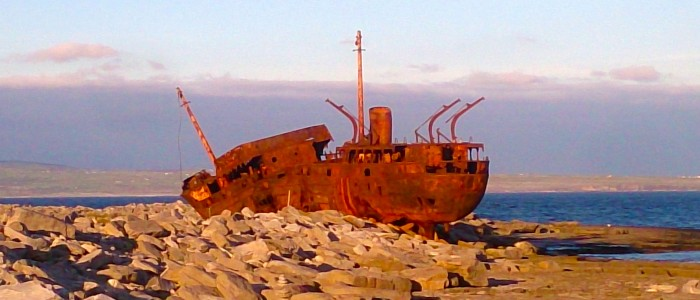 Shipwreck of The Plassy on Inisheer, Aran Islands